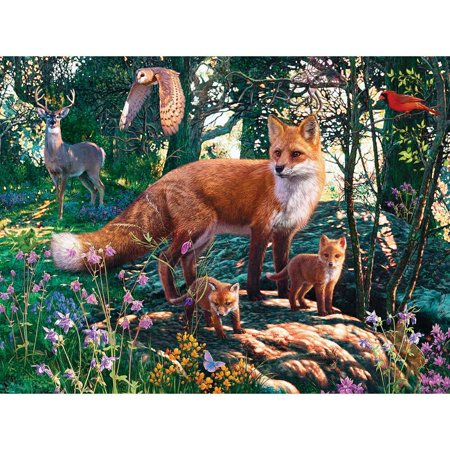 MasterPieces Hidden Images Glow in the Dark The Woodlands - Fox 550 Piece Jigsaw Puzzle by Steve Read Basic Skills Reading Puzzles