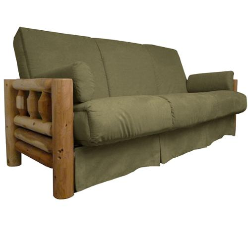 Yosemite Perfect Sit and Sleep Lodge-style Pillow Top Sofa Sleeper Bed Queen-size Frame with Suede Slate Upholstery