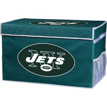 Franklin Sports NFL New York Jets Collapsible Storage Footlocker Bins - Large