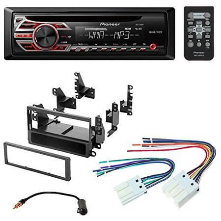 Pioneer Aftermarket Car Radio Stereo CD Player Dash Install Mounting Kit + Stereo Wire Harness for Select Nissan Altima Frontier Xterra Vehicles