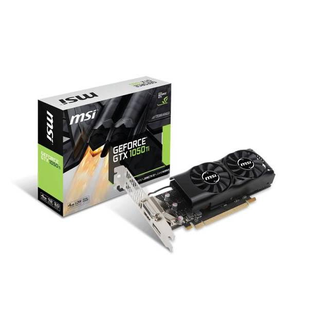 Msi NVIDIA GeForce GTX 1050 TI 4GB GDDR5 DVI/HDMI/DisplayPort Low Profile PCI-Express Video Card