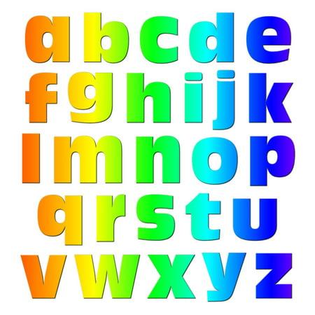 Alphabet Letters Lowercase Rainbow MAG-NEATO'S(TM) Refrigerator Magnet (Rainbow Refrigerator)