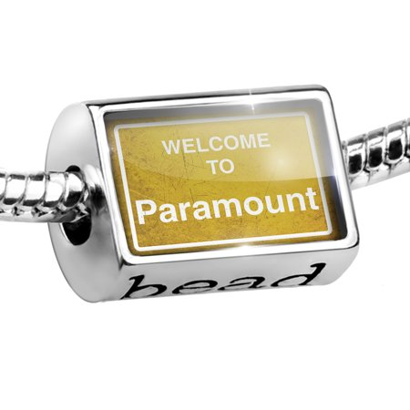 Bead Yellow Road Sign Welcome To Paramount Charm Fits All European Bracelets