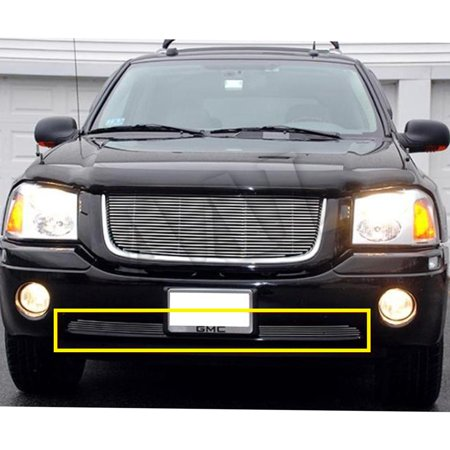 Envoy Denali Grill - AAL PREMIUM BOLT ON / BOLT OVER BILLET GRILLE / GRILL INSERT For 2001-2009 GMC ENVOY 1PC BUMPER BOLTON (not for Envoy Denali)
