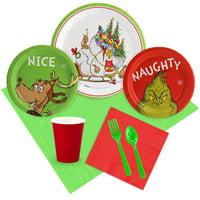 Dr. Seuss Grinch Christmas Tableware Kit (Serves 8)