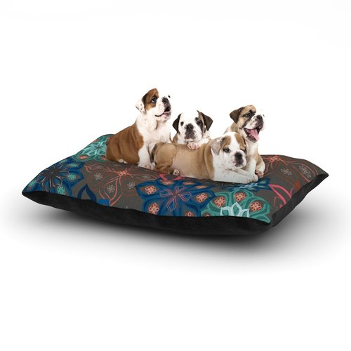 East Urban Home Jolene Heckman 'Floral Arrangements' Flowers Dog Pillow with Fleece Cozy Top