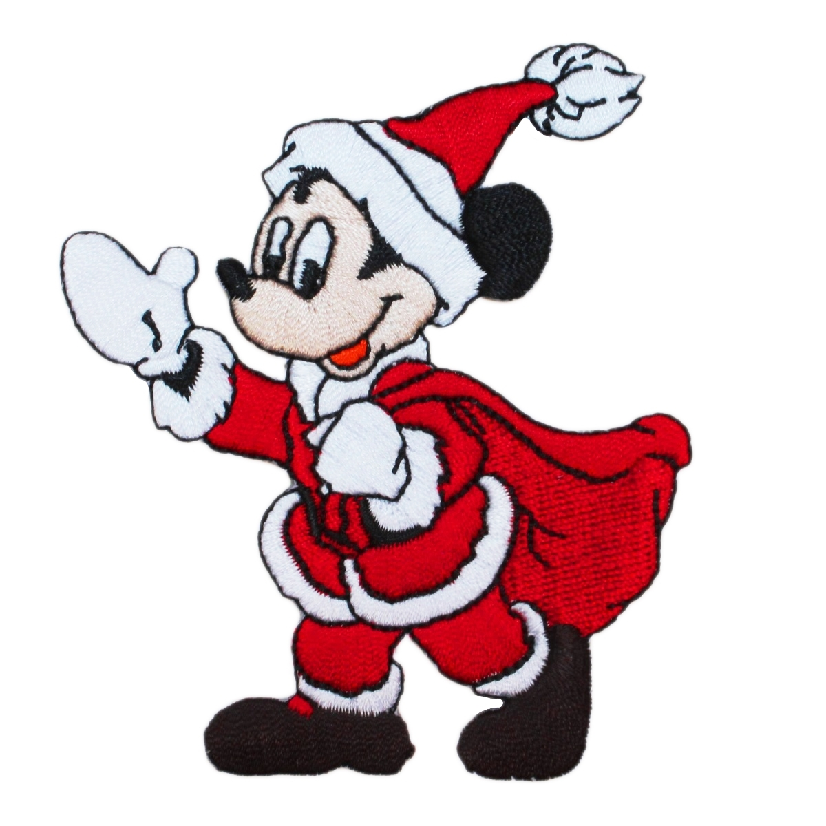 Santa Mickey Mouse Disney Christmas Cartoon Character Iron-On Applique Patch