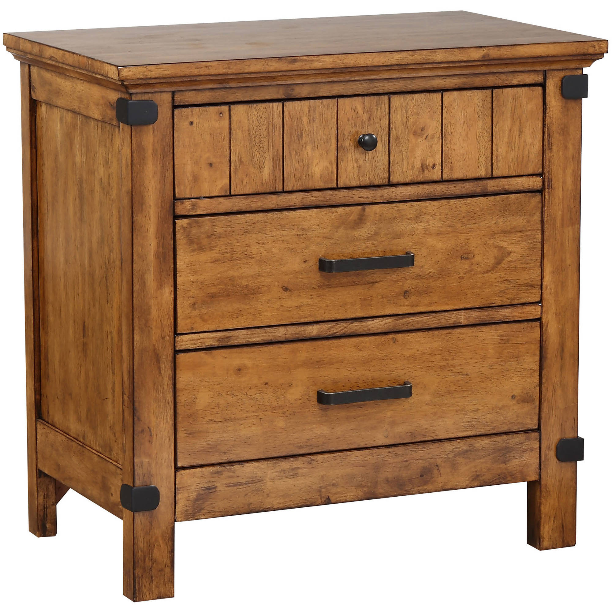 Coaster Company Brenner Collection Nightstand, Rustic Honey