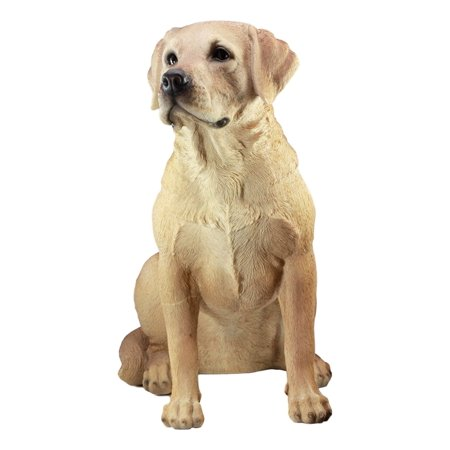 Ebros Large Realistic Lifelike Yellow Labrador Retriever Statue 21