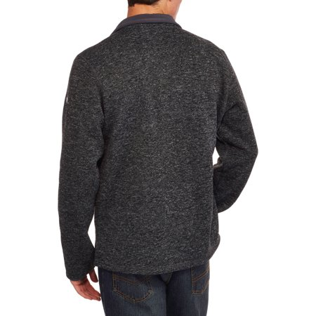 Swiss Tech Men's Marled Sweater Fleece Jacket