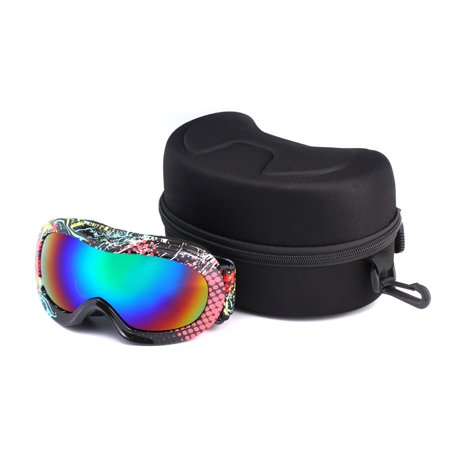 a14c226f29d Children Snow Ski Goggles Double Lens Anti-fog Windproof UV400 Mask ...