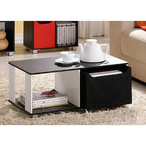 Furinno 99954BKBK Coffee Table with Bin Drawer Walmartcom