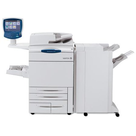 Refurbished Xerox Workcentre 7775 Color Laser Multifunction Copier - A3+, SRA3, A3, A4, 75ppm, Copy, Print, Scan, PNX Advance Finisher, Auto Duplex, Network-Ready, 2 Trays, High Capacity Tandem - Duplex Print