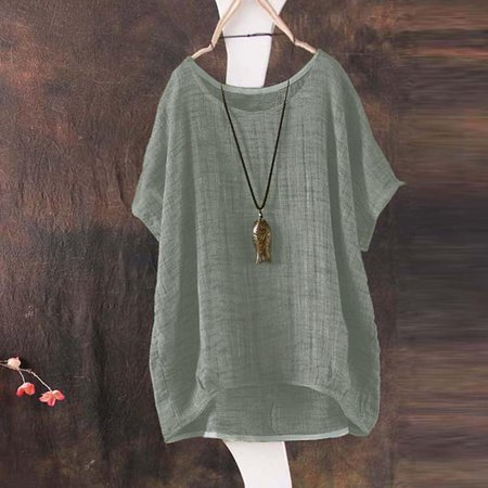 Tuscom Womens Bat Short Sleeve Casual Loose Top Thin Section Blouse T-Shirt