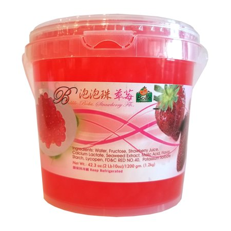 Bolle Strawberry Popping Boba Pearls 42.3 Oz. (2 lbs. 10 ...