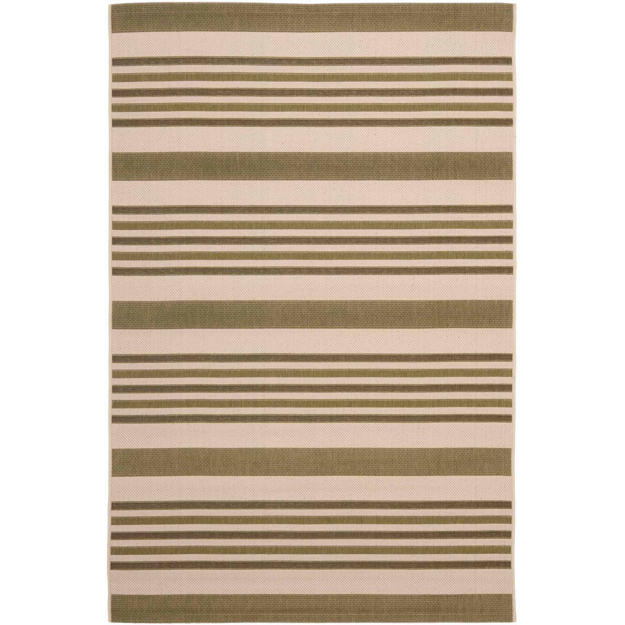 Safavieh Courtyard Denholm 5u0027 X 8u0027 Power Loomed Area Rug, Beige/Green