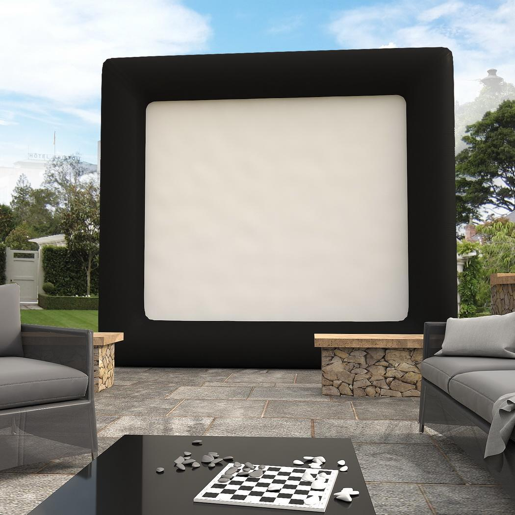 Inflatable Movie Screen, 13 x 11 Feet Widescreen Outdoor ...