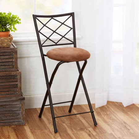 diamond x back folding 24 counter stool bronze multiple colors. Black Bedroom Furniture Sets. Home Design Ideas