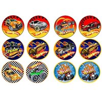 12 Hot Wheels Edible Frosting Image  Cupcake and Cookie Toppers