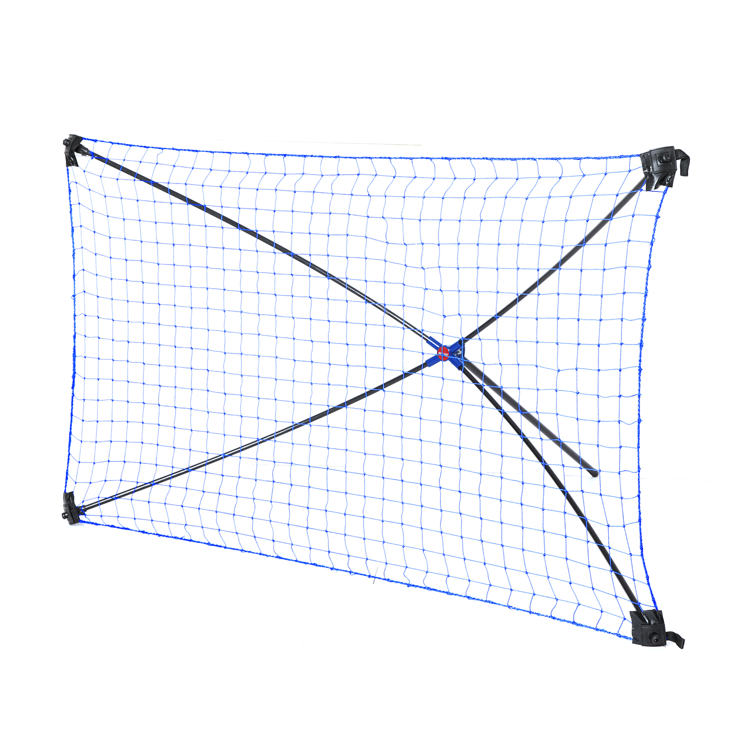 NET PLAYZ Easy Kickback Portable Soccer Rebound Net, 5FT x 3FT Rebounder, Quick Set Up, Lightweight, Multi Angle Adjustment