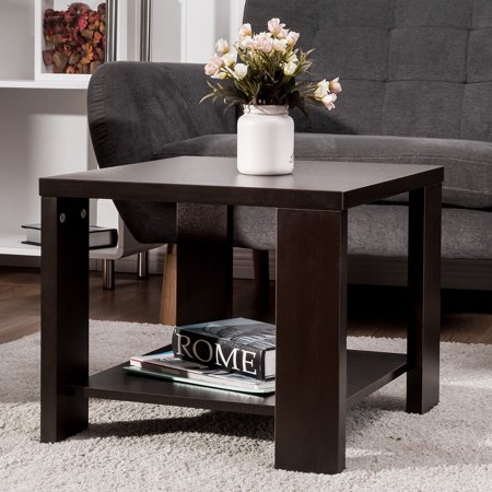 Costway End Table Square Coffee Tea Sofa Side Living Room Furniture with Storage