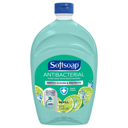 (2 pack) Softsoap Antibacterial Hand Soap Refill, Fresh Citrus, 50 Oz ()