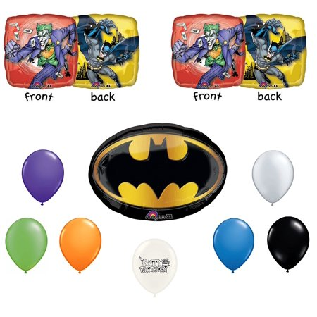 Batman and Joker Party Balloons Bouquet](Joker Decorations)