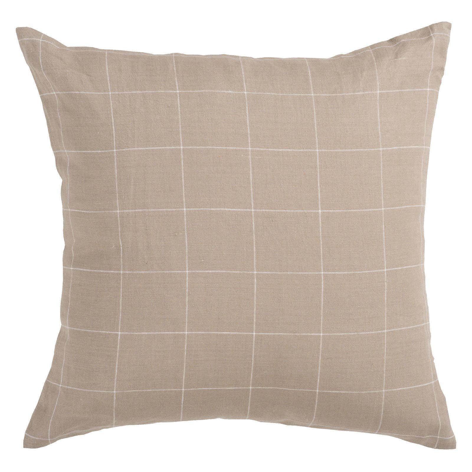 Surya Windowpane Decorative Pillow - Beige