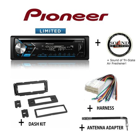 Pioneer DEH-S4010BT CD Receiver + Best Kit BKCDK640 Dash Kit + BHA1858 Harness + BAA4 Antenna Adapter + SOTS Air (Best Internet Stereo Receiver)