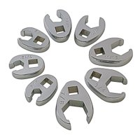 "8PC SAE FLARE CROWFOOT WRENCH SET 3/8""-7/8"""