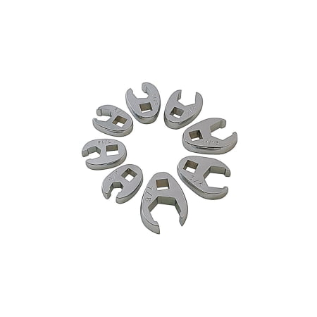 Flare Crowfoot Wrench Set - 8PC SAE FLARE CROWFOOT WRENCH SET 3/8