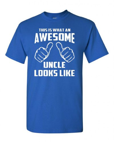 This is What an Awesome Uncle Looks Like Royal Blue Adult T-Shirt Tee (XX Large, Royal Blue)