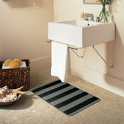 Bath Rugs Mats Walmartcom - Black and white tweed bath rug for bathroom decorating ideas