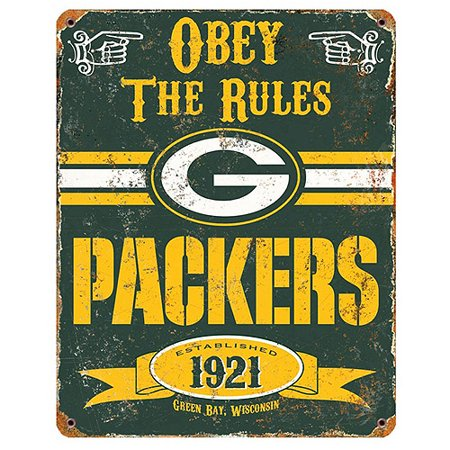 Party Animal NFL Green Bay Packers Vintage Sign