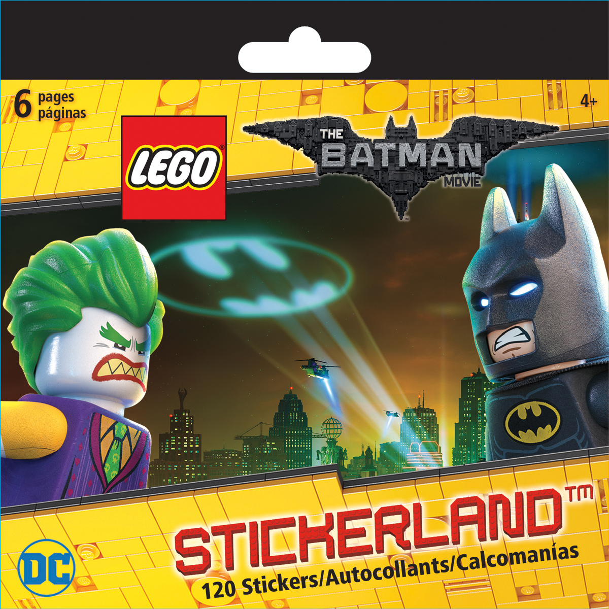 LEGO Mini Stickerland Pad 6/Pages-DC The Batman Movie