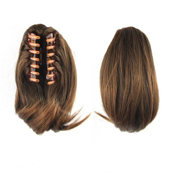 Sweetsmile Fake Hair Reversible Wig Curly Flick Straight Wavy Clip