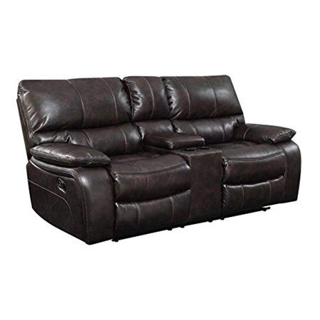 Tri Tone Leather Loveseat - Coaster Home Furnishings Coaster 601932 Motion Loveseat, Two-Tone Dark Brown, Willemse Motion Collection
