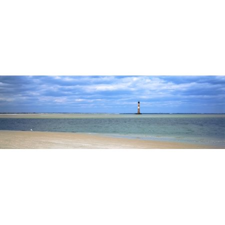 Beach With Lighthouse In The Background Morris Island Lighthouse Morris Island South Carolina Usa Poster Print