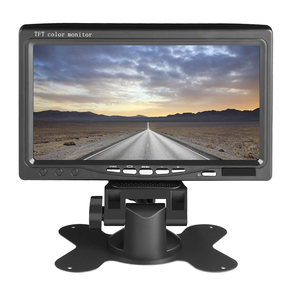 """7"""" Screen Full Color Wired Backup Camera TFT LCD Color Monitor Kit For Truck"""