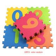 10pcs Numbers Cartoon Animals EVA Children Foam Pad Baby Crawling Mat Puzzle Floor Protector