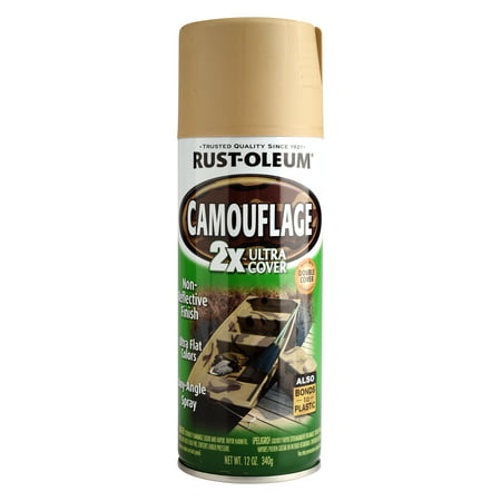 (3 Pack) Rust-Oleum Camouflage 2X Ultra Cover Sand, 12 oz