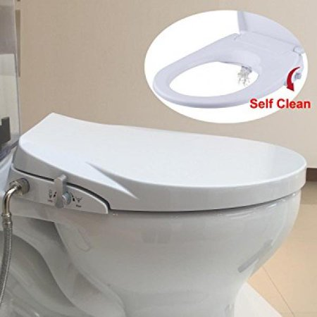 Outstanding Hibbent Elongated Bidet Seat No Electricity Bidet Toilet Seat With Sleek Design Self Cleaning Separately Sc206 Caraccident5 Cool Chair Designs And Ideas Caraccident5Info
