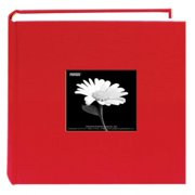 Pioneer Photo Albums DA200CBF-APR Fabric Frame Album 4X6 2-UP 200 Photo Apple (Red)