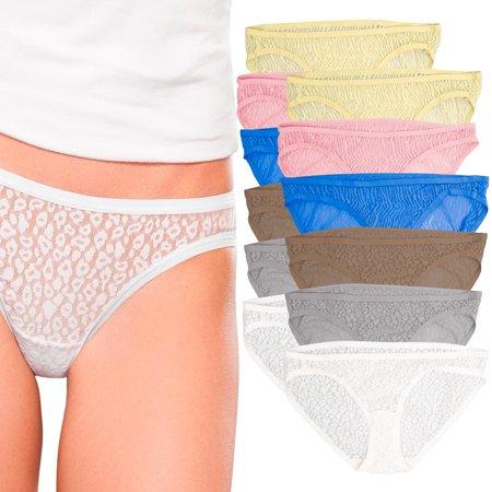2f355db2299c Fruit Of The Loom - Fruit Of The Loom (12 Pack) Lace Bikini Panties For Women  Underwear No Panty Line Stretch Panties - Walmart.com