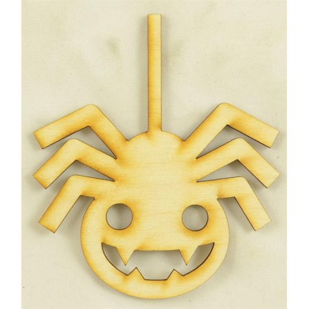 1 Pc Medium 7 X 8 X 1 4 Thick Hanging Spider Wood Cutout Perfect For Ornaments Door Hangers Or Halloween Craft Projects
