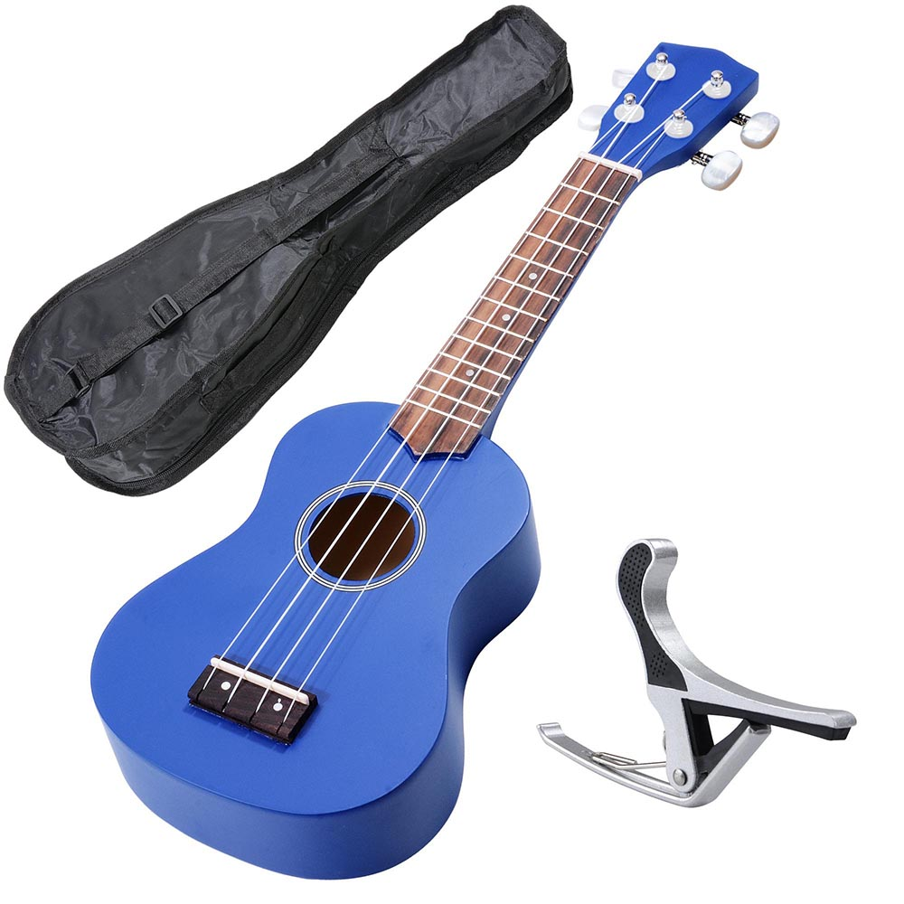 "AW 21"" Ukulele Basswood w  Bag Aluminum Capo For Adult Kids Study Musical Instrument... by AW"