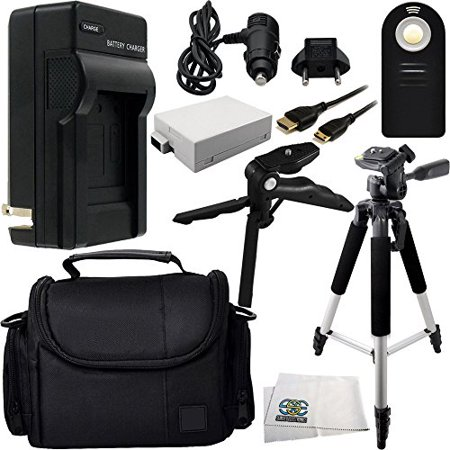 Essential Accessory Kit for Canon EOS Rebel T2i, T3i, T4i, T5i. Includes Replacement LP-E8 Battery + AC/DC Rapid Home & Travel Charger + Wireless Remote + Full Size Tripod + Pistol Grip/Table Top