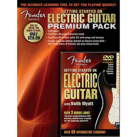 hal leonard fender presents getting started on electric guitar premium pack book cd dvd. Black Bedroom Furniture Sets. Home Design Ideas