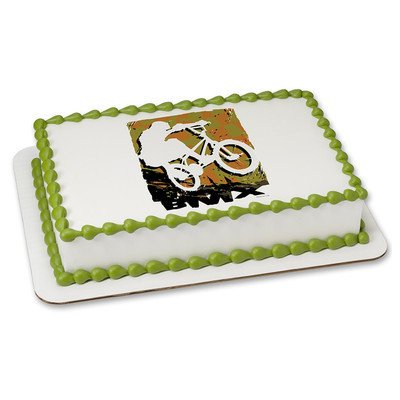 1 4 Sheet BMX Rider Edible Frosting Cake Topper