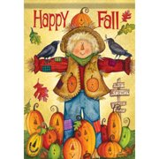 Carson Lg Flag-Happy Fall Scarecrow